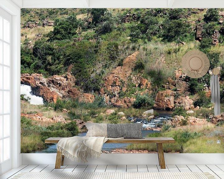 Sfeerimpressie behang: waterfall at the bourkes potholes in south africa van Compuinfoto .