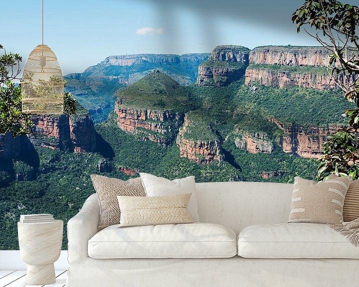 Sfeerimpressie behang: the three rondavels in africa van Compuinfoto .