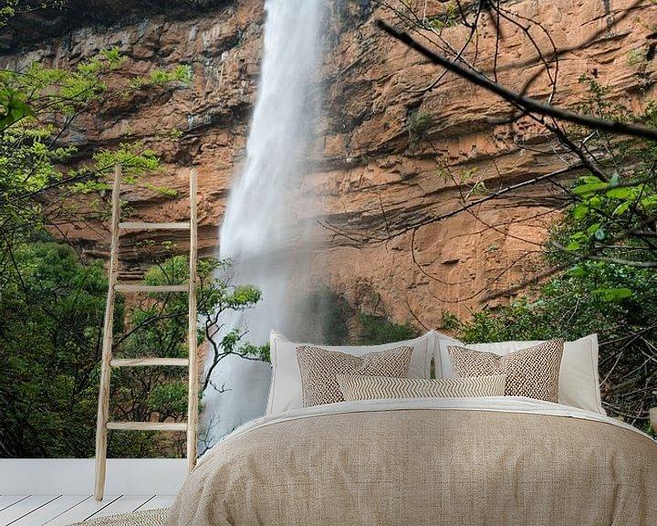Sfeerimpressie behang: bridel veil fall waterfall near sabie in south africa van Compuinfoto .