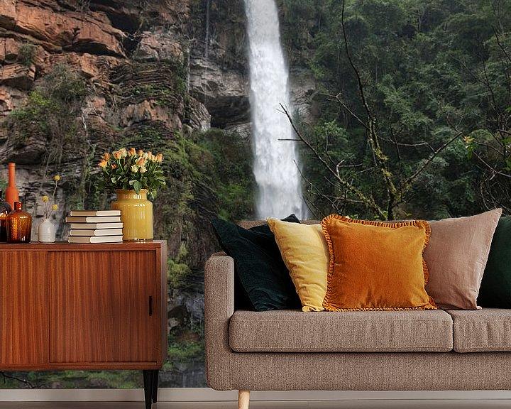 Sfeerimpressie behang: lone creek falls waterfall near Sabie van Compuinfoto .