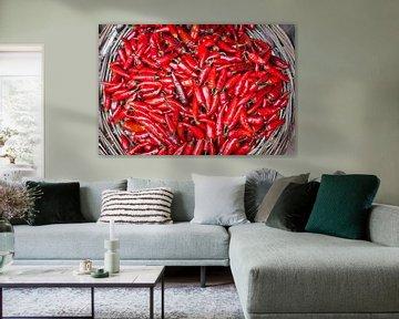 Rode chilipepers van Bart van Eijden
