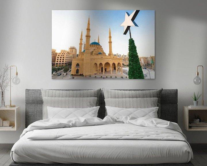 Sfeerimpressie: Mohammad Al-Amin Moskee - Beiroet, Libanon van Bart van Eijden