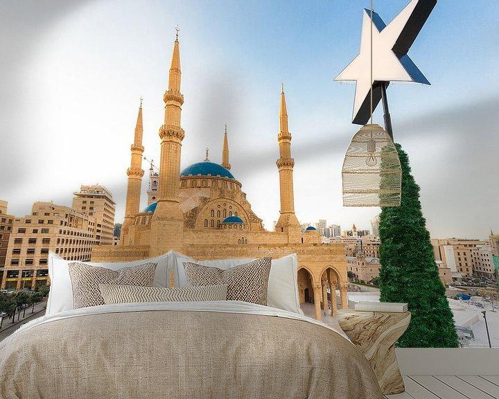 Sfeerimpressie behang: Mohammad Al-Amin Moskee - Beiroet, Libanon van Bart van Eijden
