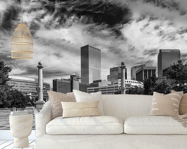 Sfeerimpressie behang: Denver Skyline van Ilya Korzelius