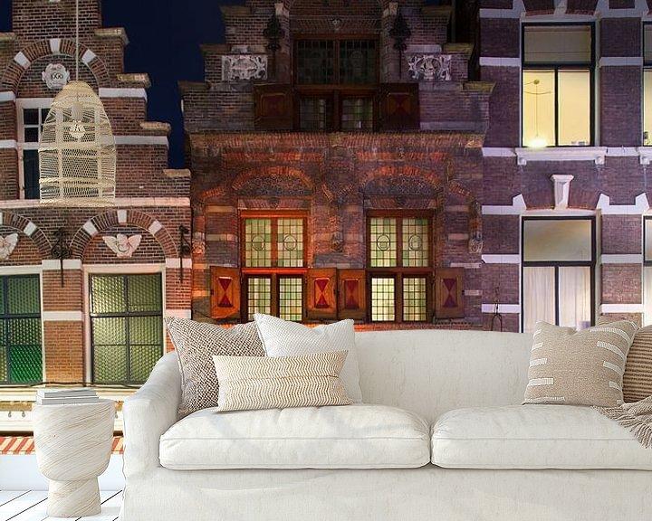 Sfeerimpressie behang: Oud middeleeuws pandje in Dordrecht van Anton de Zeeuw