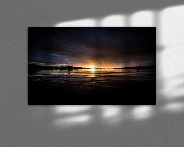 Zonsondergang over het Kai Iwi Meer