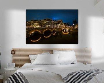 Amsterdam Keizersgracht bij nacht van Chris Snoek