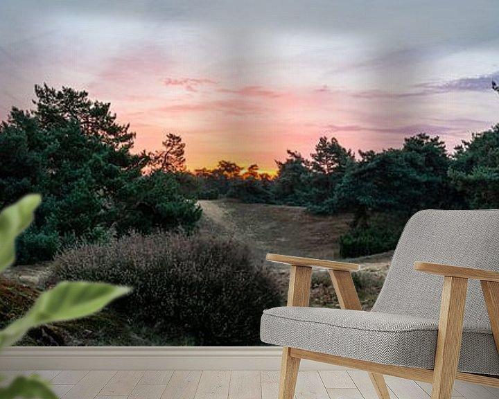 Sfeerimpressie behang: Boshuizerbergen Sunrise van William Mevissen