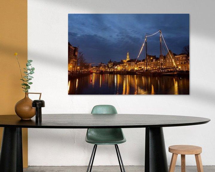 Sfeerimpressie: Licht over het Spaarne in Haarlem van Fleur Halkema
