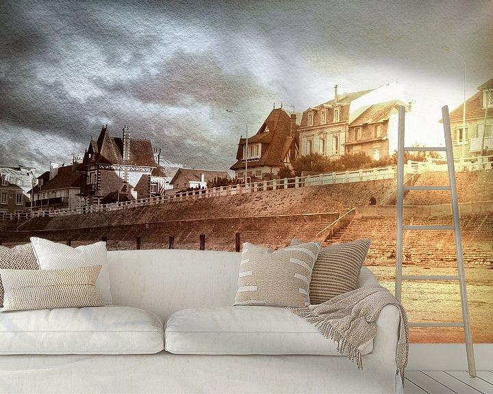 Sfeerimpressie behang: Sword Beach van Wilfried van Dokkumburg
