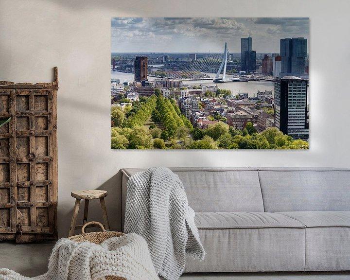 Sfeerimpressie: De Erasmusbrug Rotterdam van Menno Schaefer