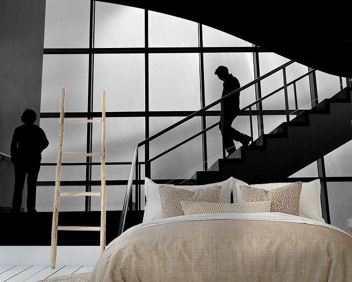 Sfeerimpressie behang: trappenhuis van Bert Bouwmeester