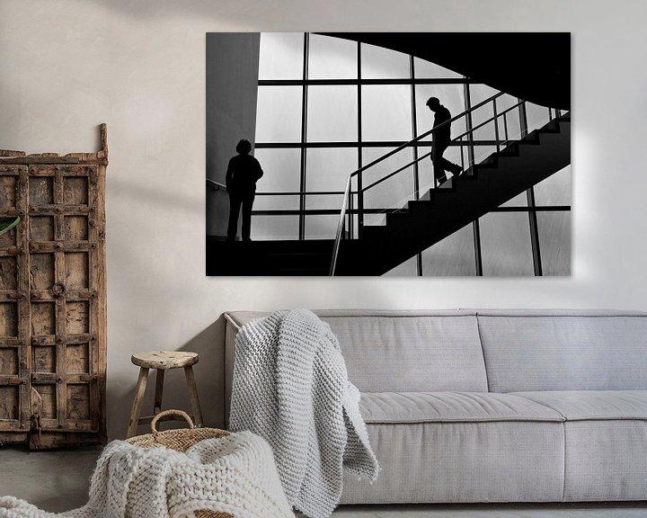 Sfeerimpressie: trappenhuis van Bert Bouwmeester