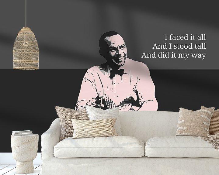 Beispiel fototapete: Frank Sinatra von Ben Visser
