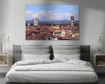 Uitzicht op Lucca italië van Nannie van der Wal