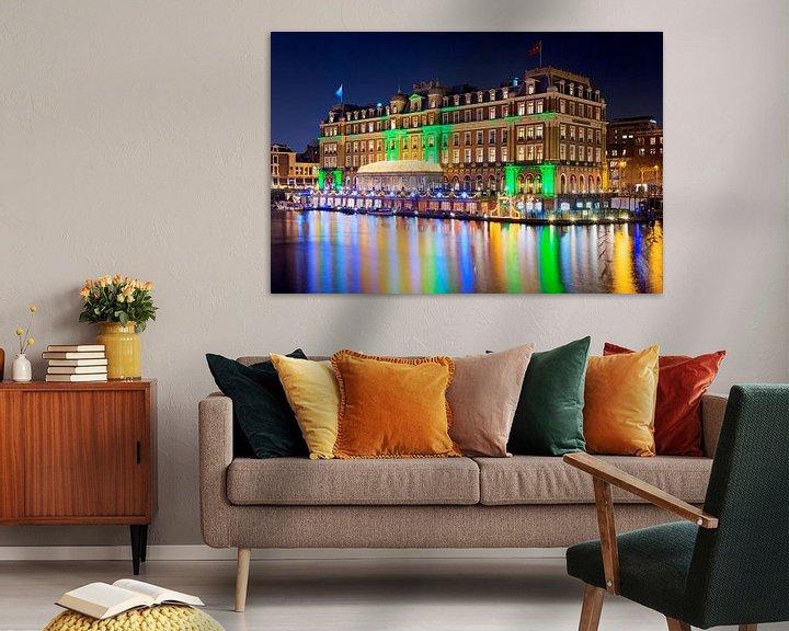Sfeerimpressie: Amstel Hotel nachtfoto te Amsterdam van Anton de Zeeuw