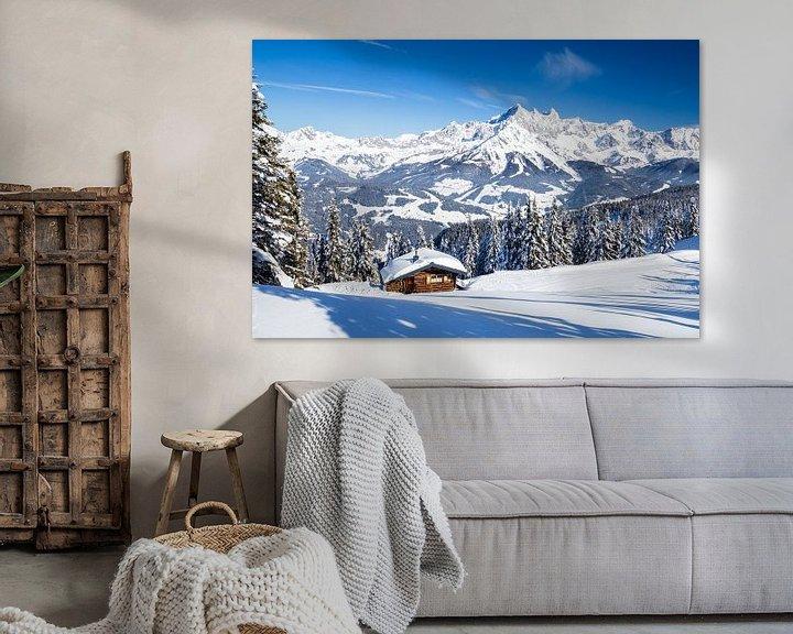 Sfeerimpressie: Zonnig winterlandschap in de Alpen van Coen Weesjes