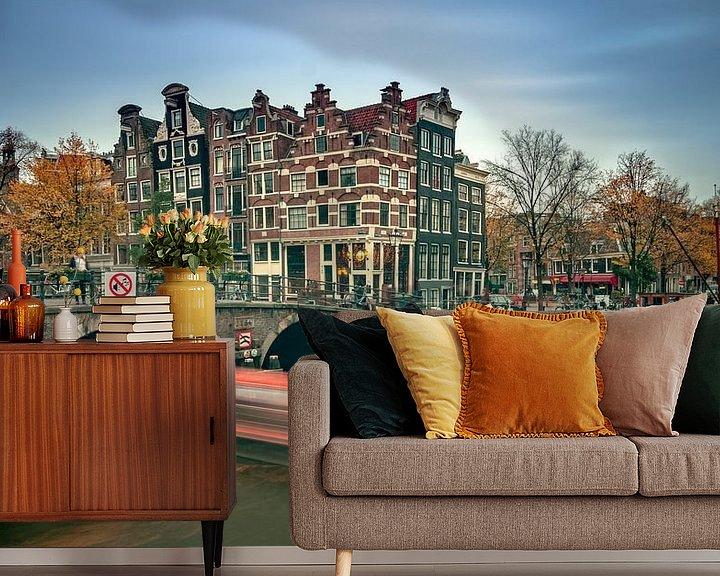 Sfeerimpressie behang: Café het Papeneiland van Henri van Avezaath