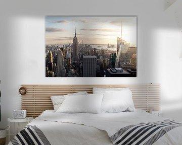 Lower Manhattan (in kleur)  van Thea.Photo