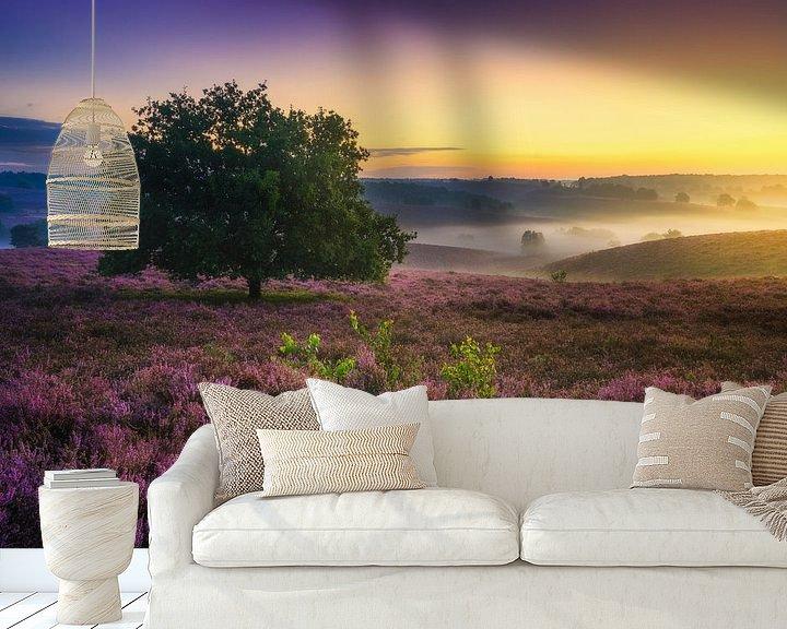 Sfeerimpressie behang: Posbank zonsopgang van Albert Dros
