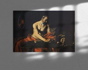 De heilige Hieronymas schrijft / Saint Jerome writing / San Girolamo scrivente, Caravaggio van Maurits Bredius