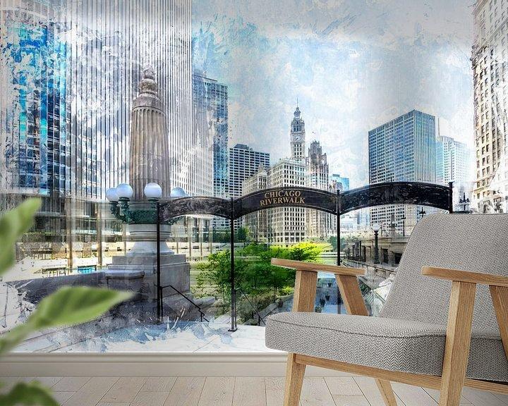 Beispiel fototapete: City-Art CHICAGO Downtown II von Melanie Viola