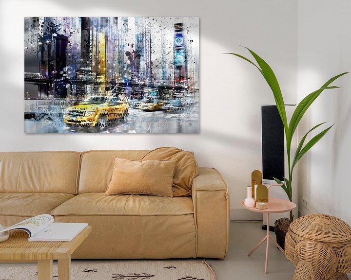 Sfeerimpressie: City-Art NYC Collage van Melanie Viola