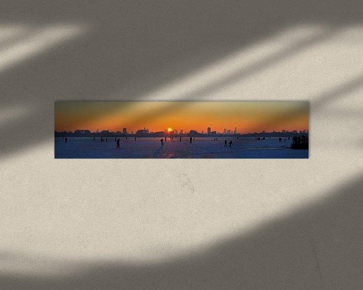 Sfeerimpressie: Panorama schaatsen op de Kralingse plas van Anton de Zeeuw
