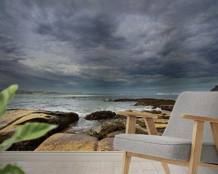 Sfeerimpressie behang: Manly Beach - Sydney, Australia van Niels Heinis