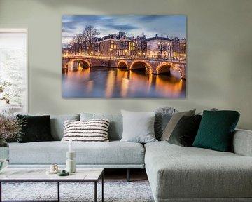 Keizersgracht / Leidsegracht in Amsterdam von Bert Buijsrogge