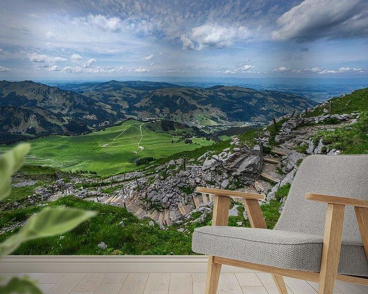 Sfeerimpressie behang: Schwarzsee vanaf de Kaiseregg in Zwitserland van Bert Buijsrogge