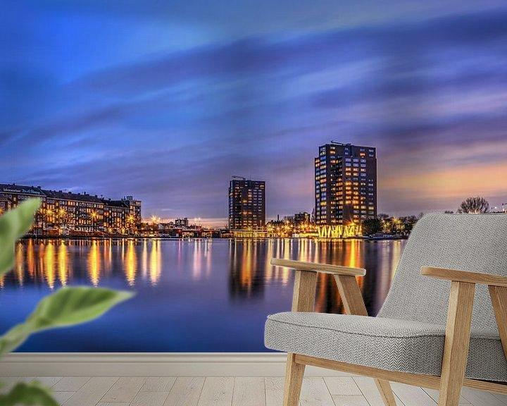 Sfeerimpressie behang: Panorama Coolhaven Rotterdam van Frans Blok