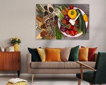 Herbs and vegetables Kitchen van PhotoArt Thomas Klee