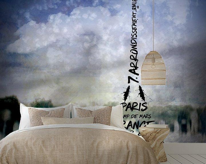 Beispiel fototapete: Digital-Art PARIS Eiffel Tower No.1 von Melanie Viola