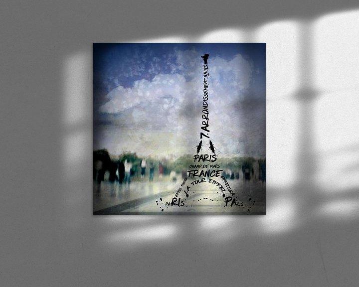 Beispiel: Digital-Art PARIS Eiffel Tower No.1 von Melanie Viola