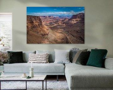 Shafertrail in Canyonlands Nationaal park Utah