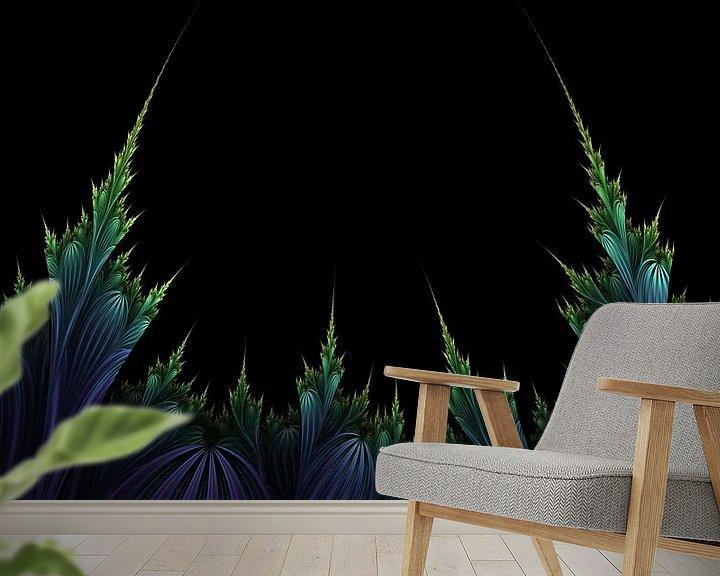 Sfeerimpressie behang: Alien Fruit v1 van Jasper de Brouwer