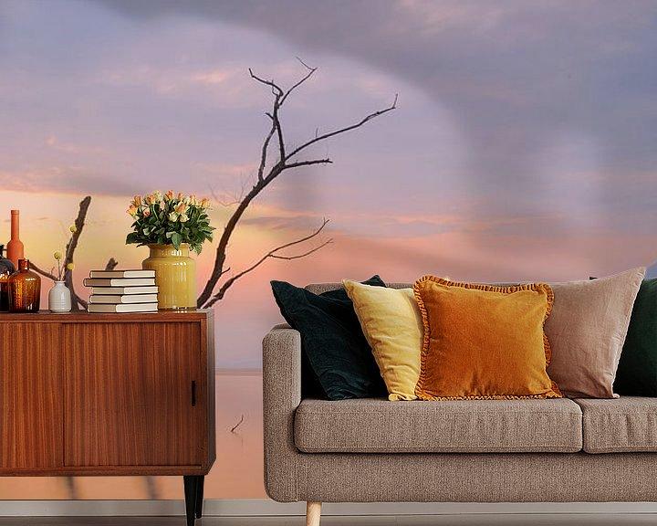 Sfeerimpressie behang: Mistic sunrise van peter meier