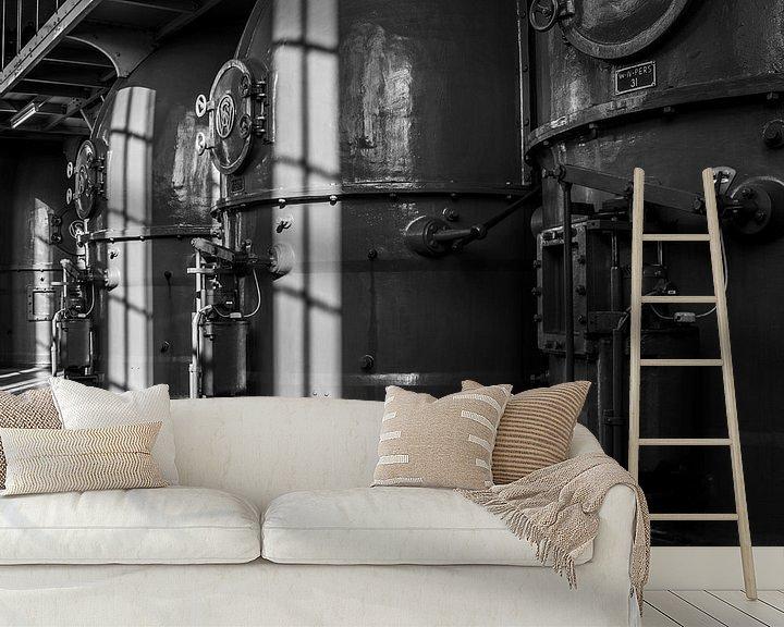 Sfeerimpressie behang: Antieke ventilatorhuizen van Ton de Koning