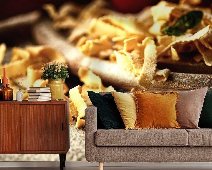 Sfeerimpressie behang: Italiaanse pasta plezier van Tanja Riedel