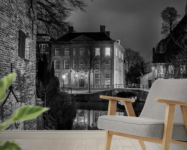 Sfeerimpressie behang: Hometown Nocturnal # 11 van Frank Hoogeboom