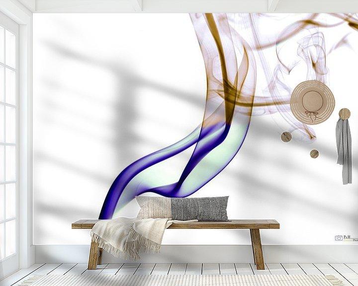 Sfeerimpressie behang: Inverted Smoke Art. van Hans Krijnen
