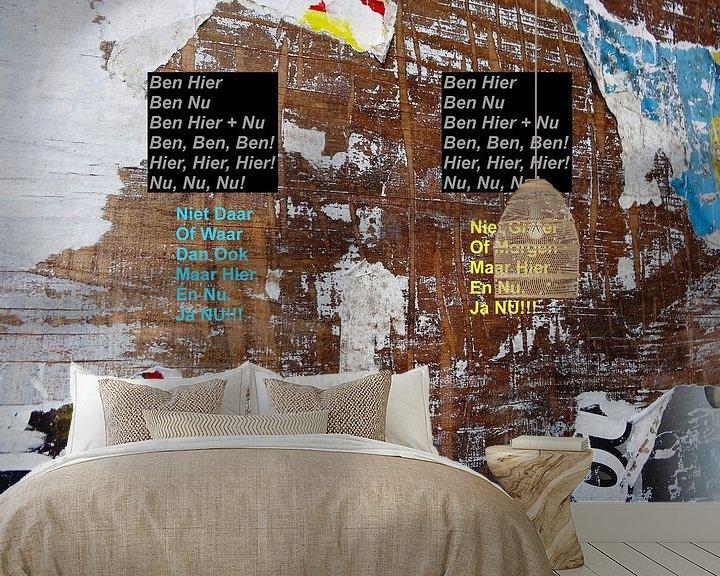Sfeerimpressie behang: Age Morris: Mindfulness Song van MoArt (Maurice Heuts)