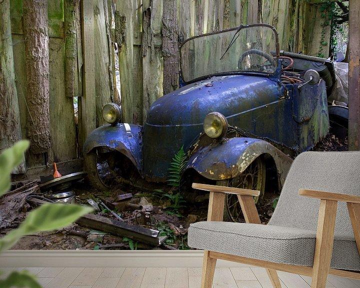 Beispiel fototapete: Auto blauw  von Ronald Rietveld