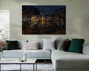Amsterdam in de nacht von Ion Chih