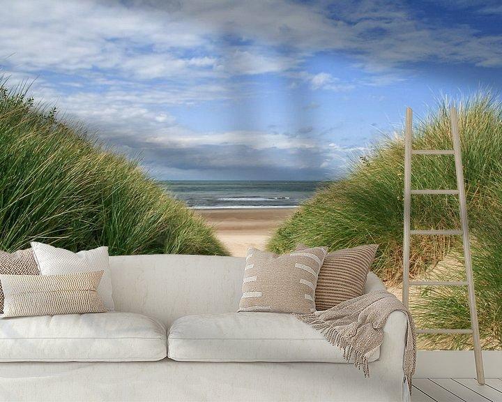 Beispiel fototapete: Strandübergang von Zeeland op Foto