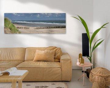 Panorama strand Vlissingen von Zeeland op Foto