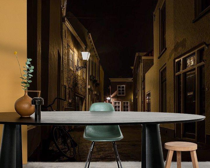 Sfeerimpressie behang: De historische straten van Zierikzee van Eus Driessen