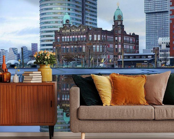 Sfeerimpressie behang: Hotel New York in Rotterdam van Michel van Kooten