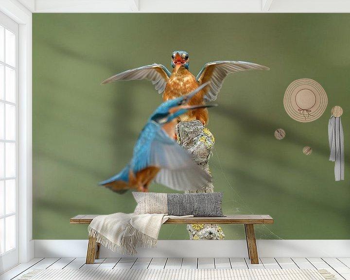 Sfeerimpressie behang: Een ijsvogel van Menno Schaefer